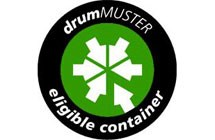 drumMUSTER eligible container logo.
