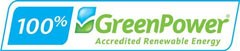 100% GreenPower Logo - accredited renewable energy
