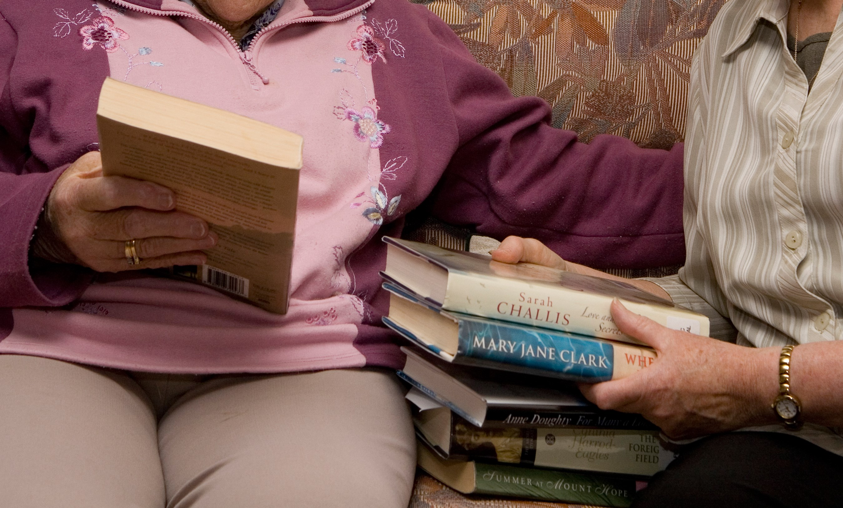 Library services for seniors
